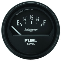 "Auto gage Series Fuel Level Gauge (2-5/8"", Short Sweep Electric, Ford, 73 ohms Empty/8-12 ohms Full) (AU2315)"