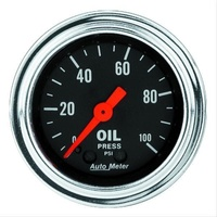 "Autometer AU2421 Traditional Chrome 2-1/16"" Oil Pressure Gauge 0-100 PSI"