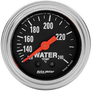 "AutoMeter AU2433 Traditional Chrome 2-1/16"" Mech Water Temp Gauge 120-240°F"