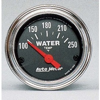 "AutoMeter AU2532 Traditional Chrome 2-1/16"" Water Temperature Gauge 100-250°F"