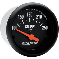 "AUTOMETER Z-SERIES 2-1/16"" ELEC DIFFERENTIAL OIL TEMP GAUGE 100-250°F AU2636"