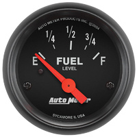 "AutoMeter AU2641 Z-Series 2-1/16"" Elec Fuel Level Gauge 0-90 OHMS"