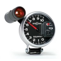 "UNIVERSAL SPORT COMP II 5"" ELEC TACHOMETER W/SHIFT LIGHT 0-10000 RPM AU3699"