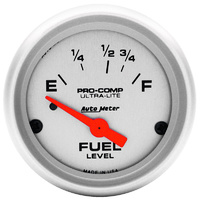 "Autometer AU4315 Ultra-Lite Fuel Level Gauge 2-1/16"" Electric Ford 73 / 8-12 ohms"