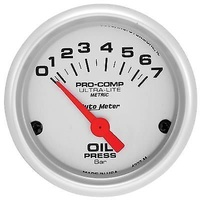 "Autometer AU4327-M Ultralite 2-1/16"" Electric Oil Pressure Gauge 0-7 Bar"