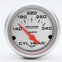 "AUTOMETER 2-1/16"" ULTRALITE CYL HEAD TEMP GAUGE AU4336"
