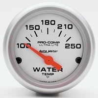 "Autometer AU4337 Ultralite 2-1/16"" Electric Water Temperature Gauge 100-250°f"