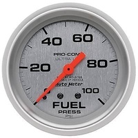 "Autometer AU4412 Ultralite 2-5/8"" Mechanical Fuel Pressure Gauge 0-100 Psi"