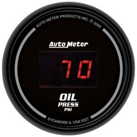 "AutoMeter AU6327 Sport-Comp Digital 2-1/16"" Oil Pressure Gauge 0-100 PSI"