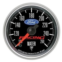 "AUTOMETER FORD RACING 2-1/16"" ELEC WATER TEMPERATURE GAUGE 100-260°F AU880086"
