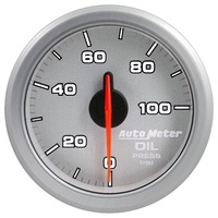 "AUTOMETER AU9152-UL AIRDRIVE 2-1/16"" ELECTRIC OIL PRESSURE GAUGE 0-100PSI SILVER"