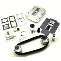 The Blower Shop B2634 LS Blower Kit EFI - Polished Finish (Suit Rectangle Port Heads)