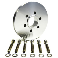 Accessory V-Pulley (Suit BB Chev With 6-Bolt Hub, 1V, Polished) (B4212)