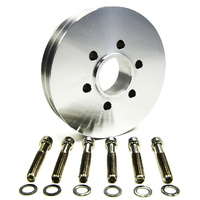 Accessory V-Pulley (Suit BB Chev With 6-Bolt Hub, 2V, Polished) (B4222)