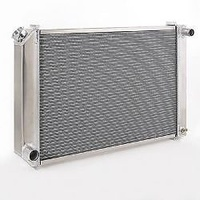 "BE COOL UNIVERSAL ALUMINIUM RADIATOR W 26""X H 18"" 1.25"" OUT 1.5"" IN BCP60165"