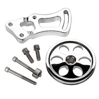 BILLET SPECIALTIES POWER STEERING BRACKET & PULLEY BS12120 SHORT PUMP CHEV SB V8