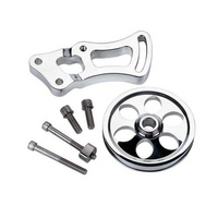 BILLET SPECIALTIES POWER STEERING BRACKET & PULLEY BS12220 LONG PUMP CHEV SB V8
