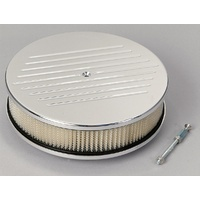 "BILLET SPECIALTIES POLISHED ALLOY ROUND 10X3.25"" AIR CLEANER BALL MILLED BS15220"