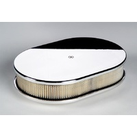 "BILLET SPECIALTIES OVAL PLAIN POLISHED AIR CLEANER 11.875 X 8.375 X 3"" BS15329"