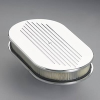 "BILLET SPECIALTIES LARGE OVAL POLISHED AIR CLEANER 15 x 8.5 x 3"" BS15420"