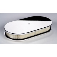 "BILLET SPECIALTIES OVAL PLAIN POLISHED AIR CLEANER 15"" X 8-1/2""  X 3"" BS15429"