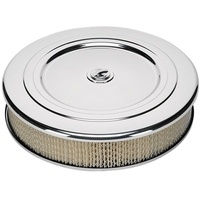 "BILLET SPECIALTIES CLASSIC ROUND 14"" AIR CLEANER POLISHED ALLOY BS15837"