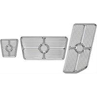 BILLET SPECIALTIES 3 PIECE POLISHED ALLOY PEDAL COVER KIT BS198622