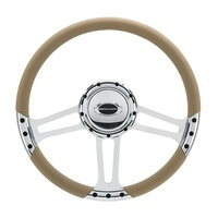 "14"" Billet ""Draft"" Steering Wheel Spyder (Half Wrap Horn And Adapter Sold Separately) (BS29263)"