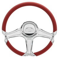 "14"" Billet ""Octane"" Steering Wheel Spyder (Half Wrap Horn And Adapter Sold Separately) (BS29308)"
