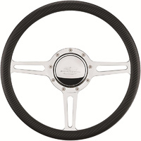 "14"" Billet ""Split Spoke"" Steering Wheel (Half Wrap Horn Button and Adapter Sold Separately) (BS30137)"