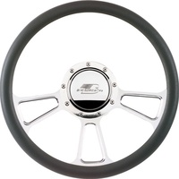 "14"" Billet ""Vintec"" Steering Wheel (Half Wrap Horn Button and Adapter Sold Separately) (BS30425)"