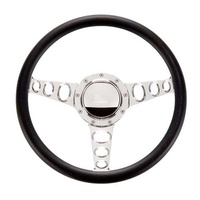 "14"" Billet ""Outlaw"" Steering Wheel (Half Wrap Horn Button and Adapter Sold Separately) (BS30445)"