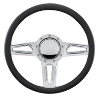"14"" Billet ""Interceptor"" Steering Wheel Spyder (Half Wrap Horn And Adapter Sold Separately) (BS30595)"