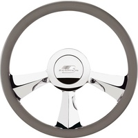"14"" Billet ""Rival"" Steering Wheel (Half Wrap Horn Button and Adapter Sold Separately) (BS30735)"