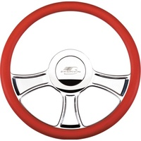 "14"" Billet ""Chicayne"" Steering Wheel (Half Wrap Horn Button and Adapter Sold Separately) (BS30765)"