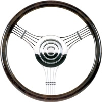 "14"" Billet ""Banjo"" Steering Wheel (Half Wrap Horn Button and Adapter Sold Separately) (BS30925)"