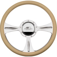 "14"" Billet ""GTX01"" Steering Wheel (Half Wrap Horn Button and Adapter Sold Separately) (BS30935)"