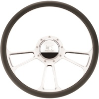 "16.5"" Billet ""Vintec"" Steering Wheel (Half Wrap Horn Button and Adapter Sold Separately) (BS34425)"