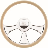 "16.5"" Billet ""Chicayne"" Steering Wheel (Half Wrap Horn Button and Adapter Sold Separately) (BS34765)"
