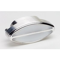 "BILLET SPECIALTIES POLISHED ALLOY OVAL INTERIOR LIGHT CLEAR 4"" X 2"" BS60320"