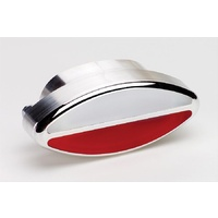 "BILLET SPECIALTIES POLISHED ALLOY OVAL INTERIOR LIGHT CLEAR/RED 4"" X 2"" BS60420"