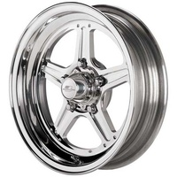 "Billet Specialties BSRS035406122N 15"" x 4"" Street Lite Wheel 2.25"" Backspace"