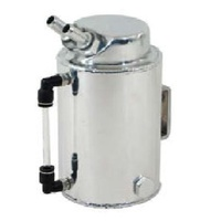 POLISHED ALUMINIUM OIL CATCH TANK 2 LITRE ROUND CAL2866