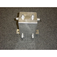 POLISHED ALUMINIUM SURGE TANK 3 LITRE RECTANGLE CAL2933