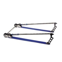 Wheel-E-Bars Professional Chrome Plated/Blue Anodized Finish Weld-On Kit