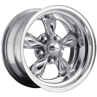 "Center Line CE43-5703-545 Classic Rodder 15"" x 7"" Wheel - Hi Polish 5x4.5"" (Ford) Bolt Circle 3.5"" Backspace"