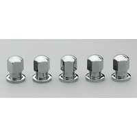 "CENTERLINE 1/2"" SHANK WHEEL NUTS CEL-5100 CLOSED END 1/2"" x 20 RH CHROME 5 PACK"