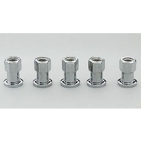"CENTERLINE 1/2"" SHANK WHEEL NUTS CEL-5110 OPEN END 1/2"" x 20 RH CHROME 5 PACK"