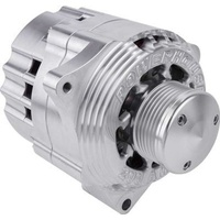 Billet Powerhouse Alternator w/ 6 Groove Pulley - Clear