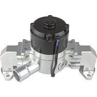 CVR CVR8554CL Chev BB Proflo Extreme 55 GPM  Electric Water Pump Clear Anodised